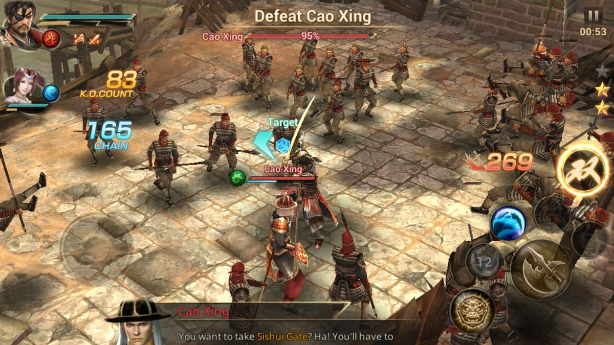 dynasty warriors unleashed gameplay screenshot
