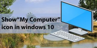 show my computer icon on desktop in windows 10