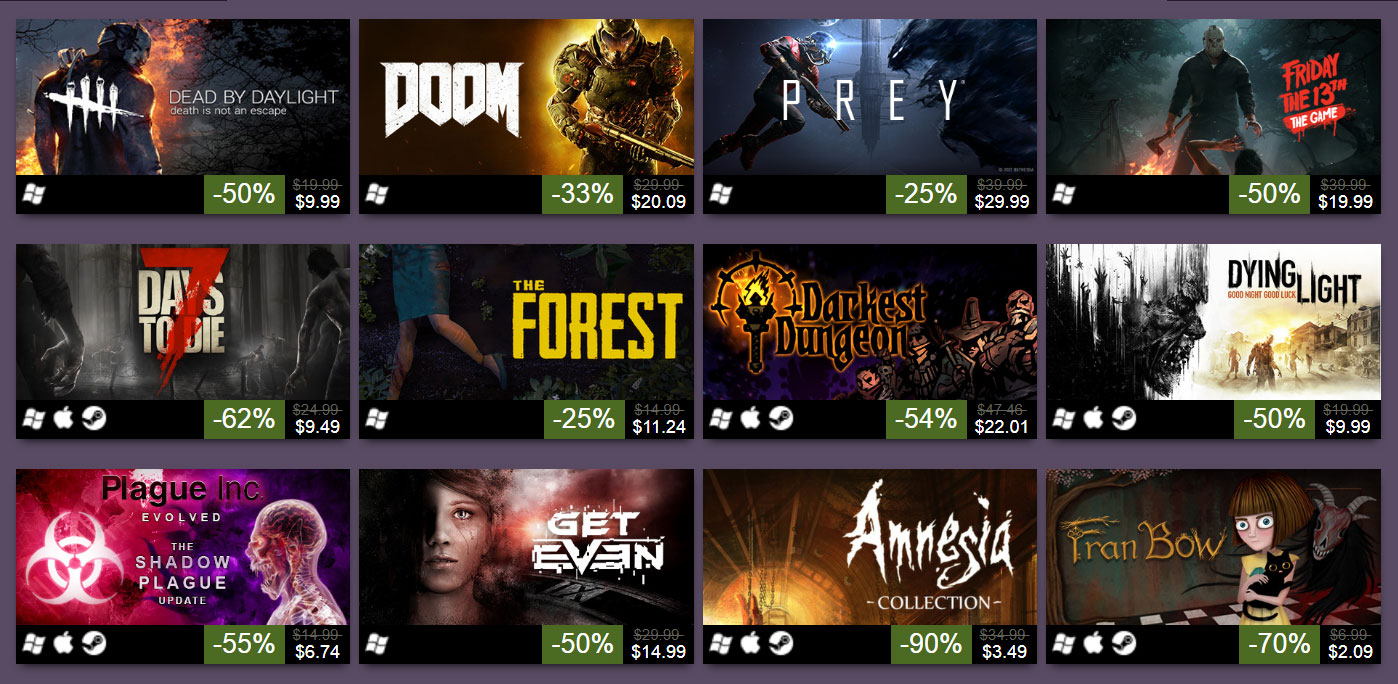 Steam Halloween Sale is live offering discounts on a variety of ...