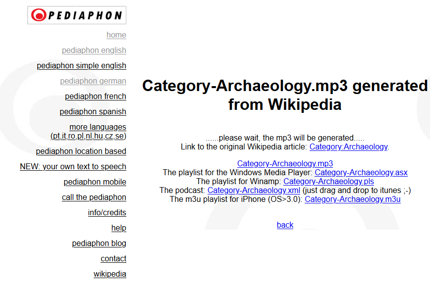 download wikipedia article as mp3 3
