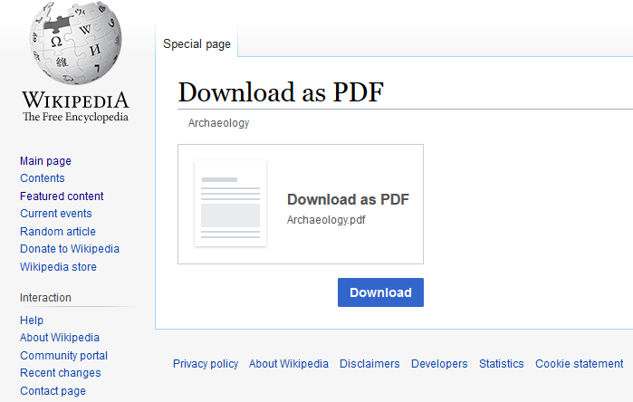 download wikipedia article as pdf 2
