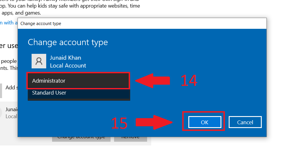 11 - account type in windows 10