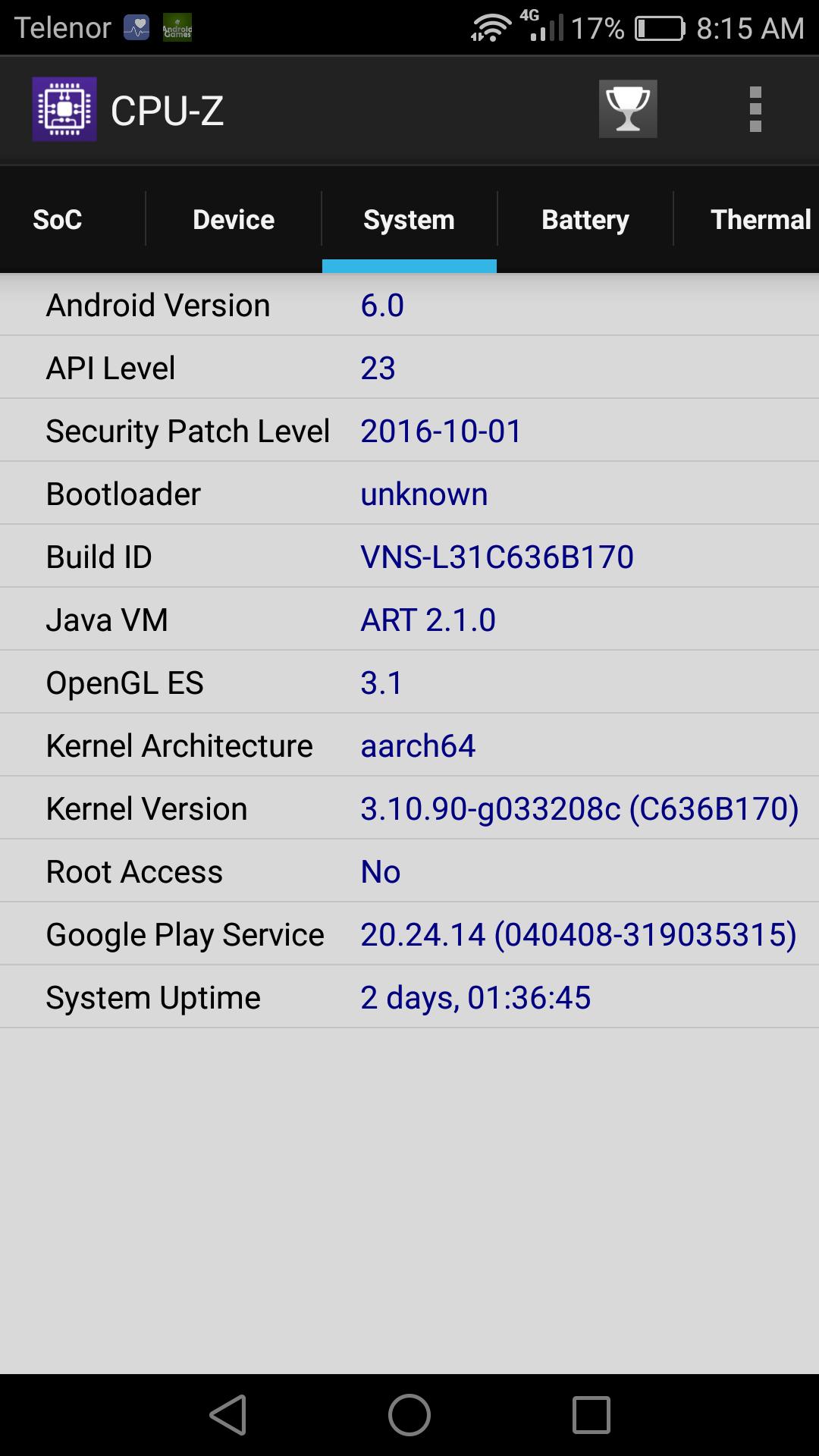 CPU Z Kernel Architecture Info