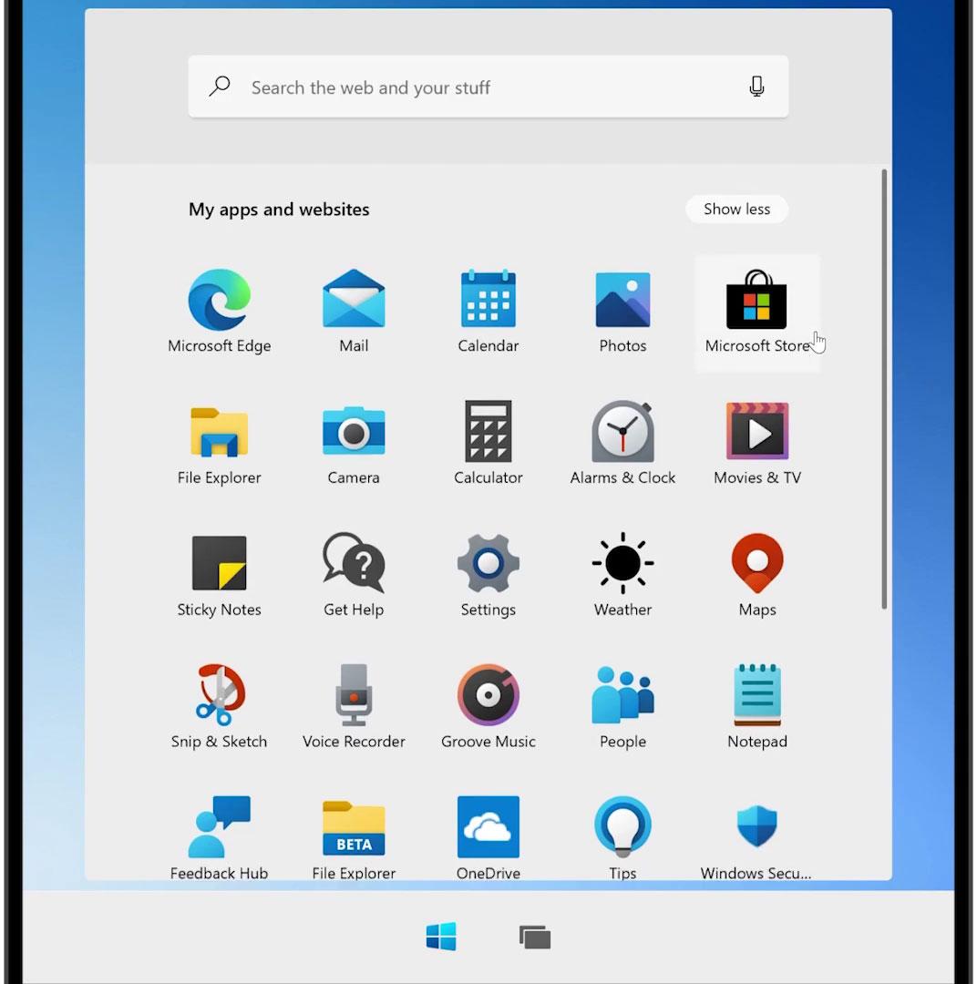 windows-10x-start-menu